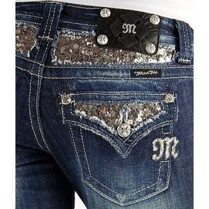 Miss Me Bootcut Sequin Embellished Jeans